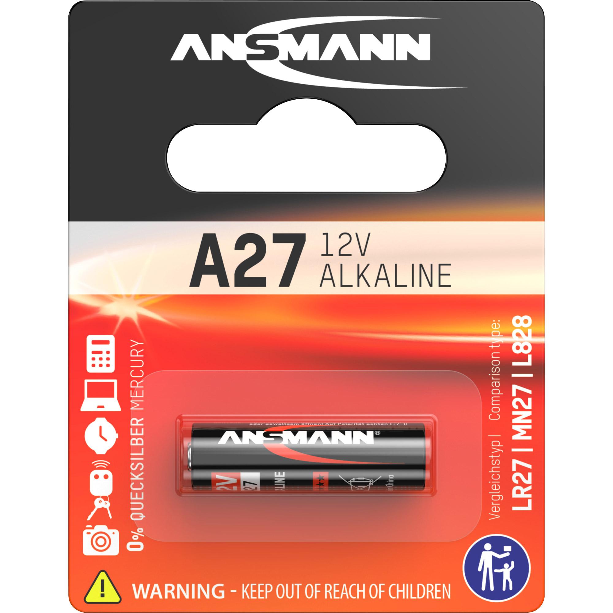 ansmann 1516 0001 alkaline batterie a27 12v batterien. Black Bedroom Furniture Sets. Home Design Ideas