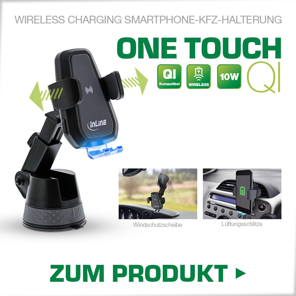 One Touch Qi Wireless Charging Smartphone-Haltung