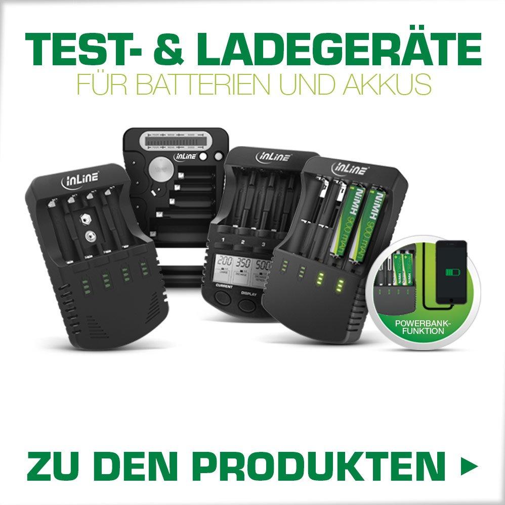 Test- und Ladegeräte für Batterien und Akkus