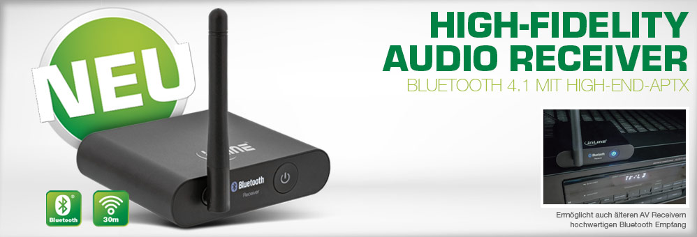 Bluetooth True Hi-Fi Audio Receiver