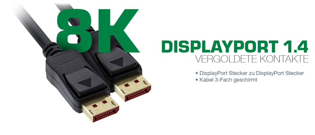 InLine 8K Displayport-Kabel