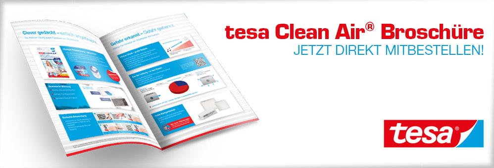 tesa Clean Air Broschüre