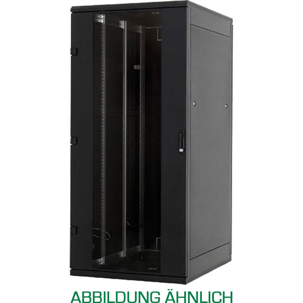 19'' Netzwerkschrank 15HE, Triton RJA-15-A69-BAX-A1, 600x900, Glastür, schwarz
