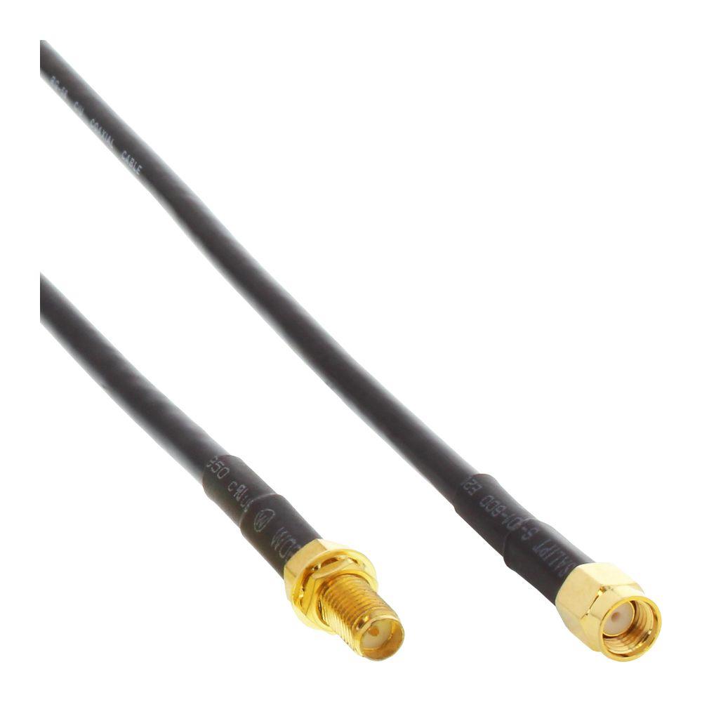 InLine® WLAN Kabel, R-SMA-Stecker auf R-SMA-Kupplung, 1m