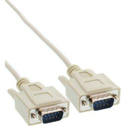 InLine® Serielles Kabel, 9pol Stecker / Stecker, vergossen, 1:1 belegt, 5m