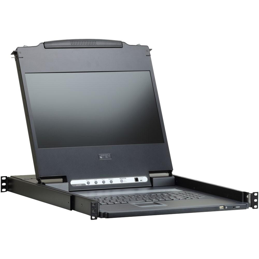ATEN CL6700MW KVM Konsole, FullHD 17,3''-Monitor, IT-Layout