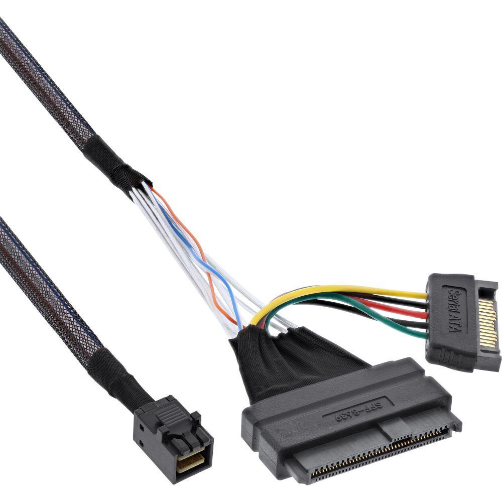 InLine® U.2 Anschlusskabel, SSD mit U.2 (SFF-8639) an SFF-8643 + Strom, 0,75m