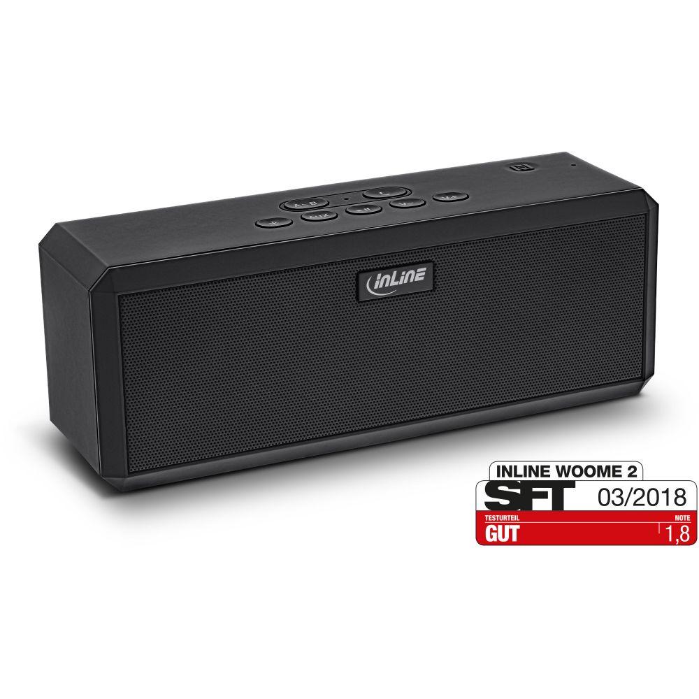 InLine® WOOME 2 - True Wireless Stereo TWS Bluetooth Lautsprechern NFC aptX, schwarz