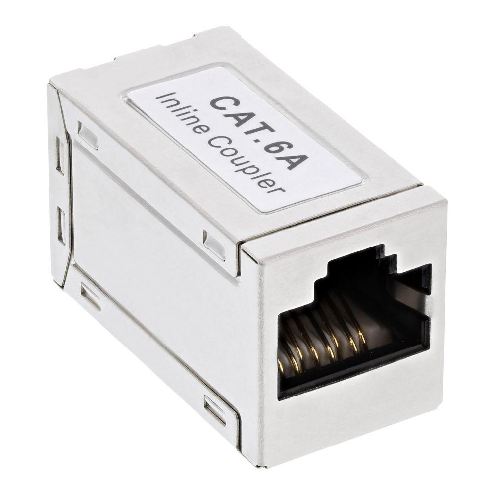 InLine® Patchkabelkupplung Cat.6A, 2x RJ45 Buchse, geschirmt