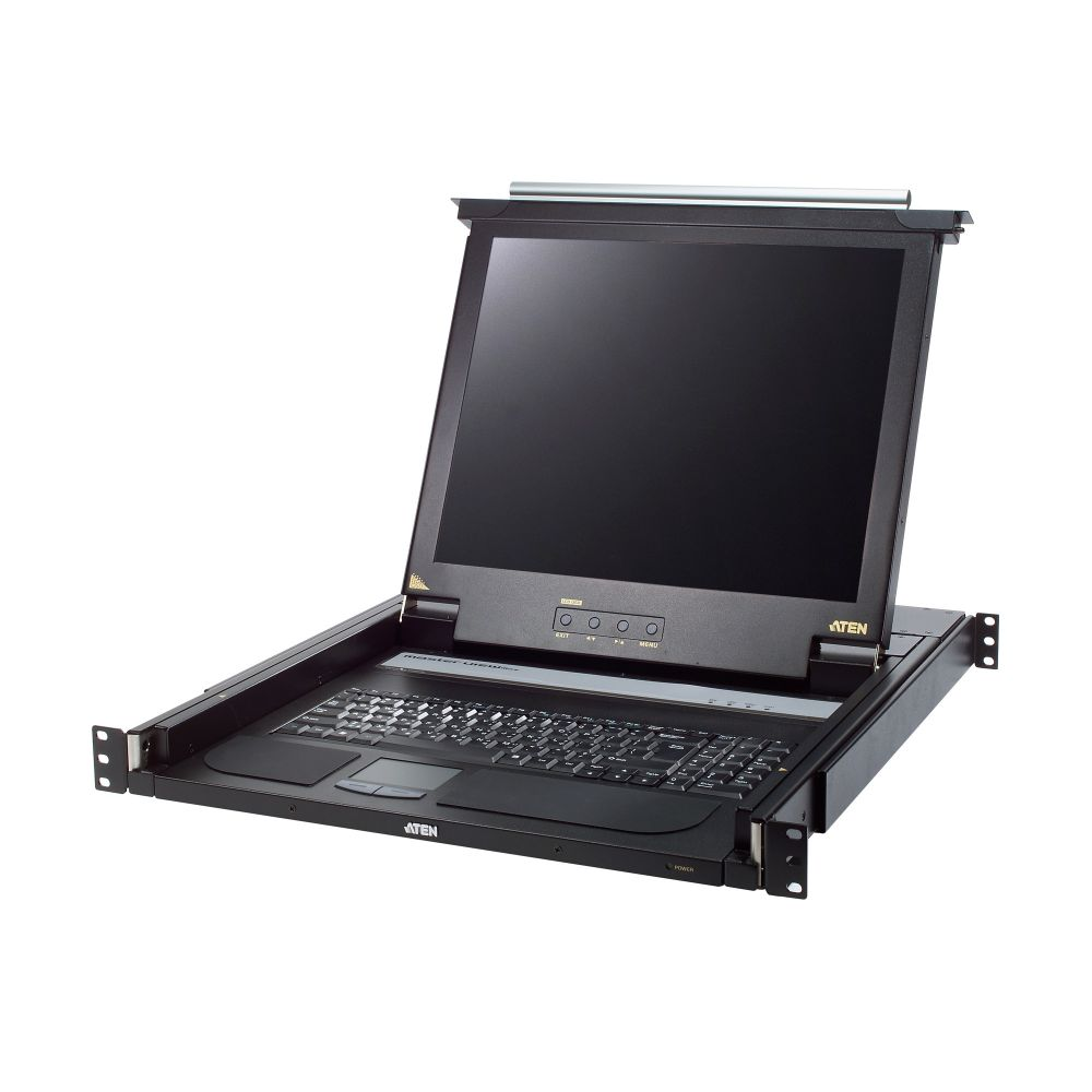 ATEN CL1000N Slideaway-Konsole mit 19''-Display, Rackmontage, DE-Layout