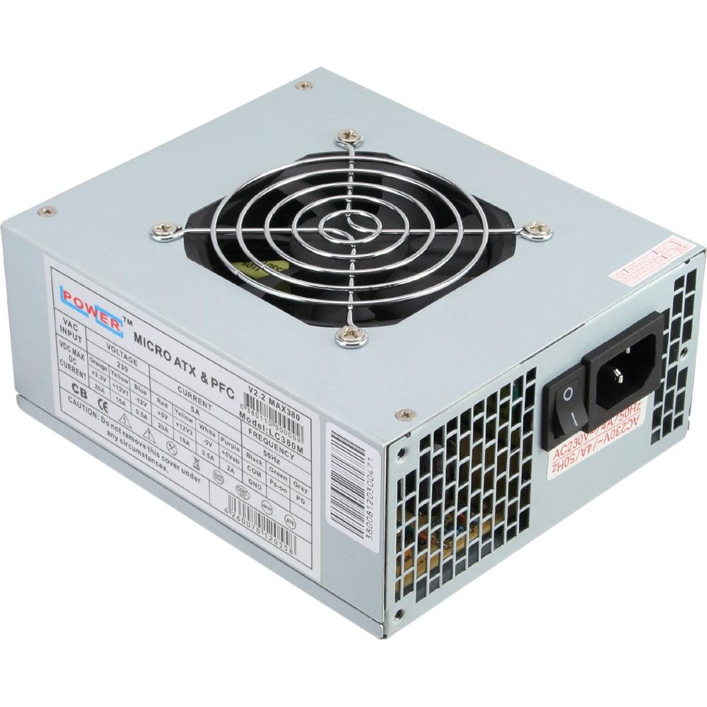 LC-Power LC380M V2.2, Micro ATX-Netzteil, 80mm Lüfter
