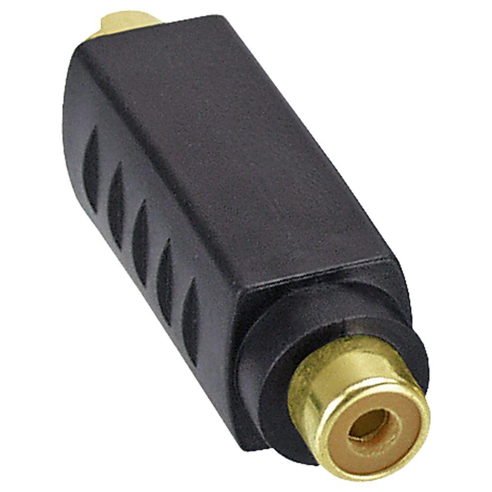 InLine® S-VHS Adapter aktiv, 4pol Mini DIN Stecker an Cinch Buchse, vergoldete Anschlüsse