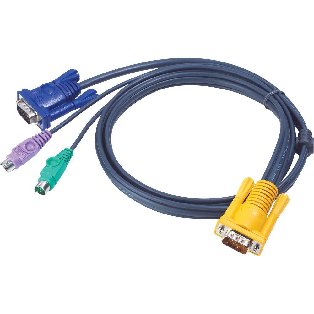 ATEN 2L-5202P KVM Kabelsatz, VGA, PS/2, Länge 1,8m