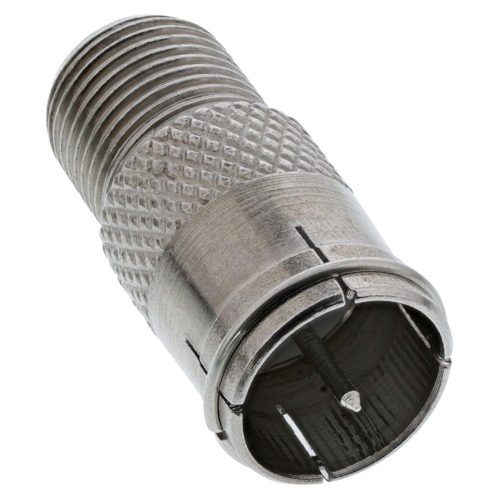 InLine® Adapter F-Quick-Stecker (SAT) auf F-Buchse (SAT)