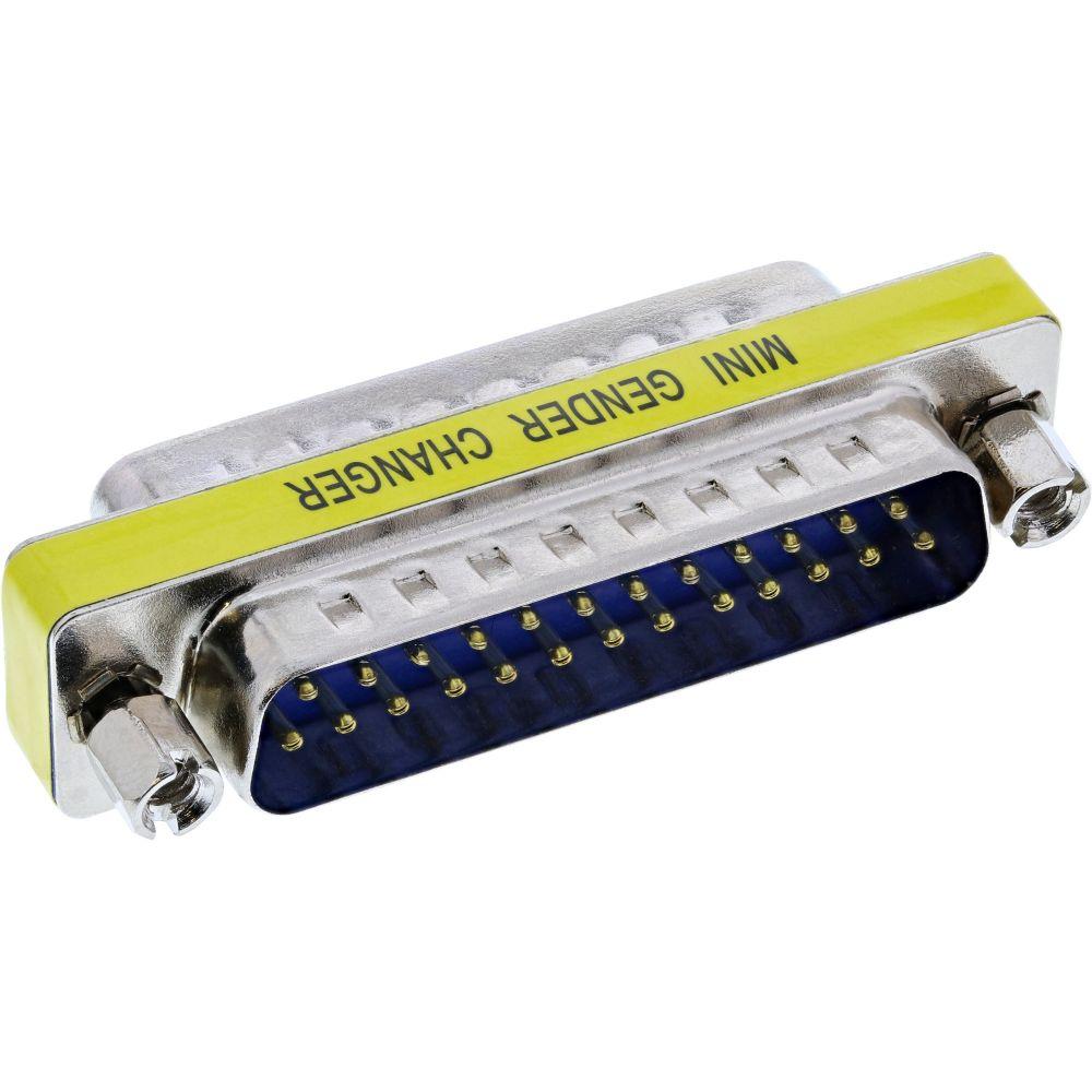 InLine® Mini-Gender-Changer, 25pol Sub D Stecker / Stecker