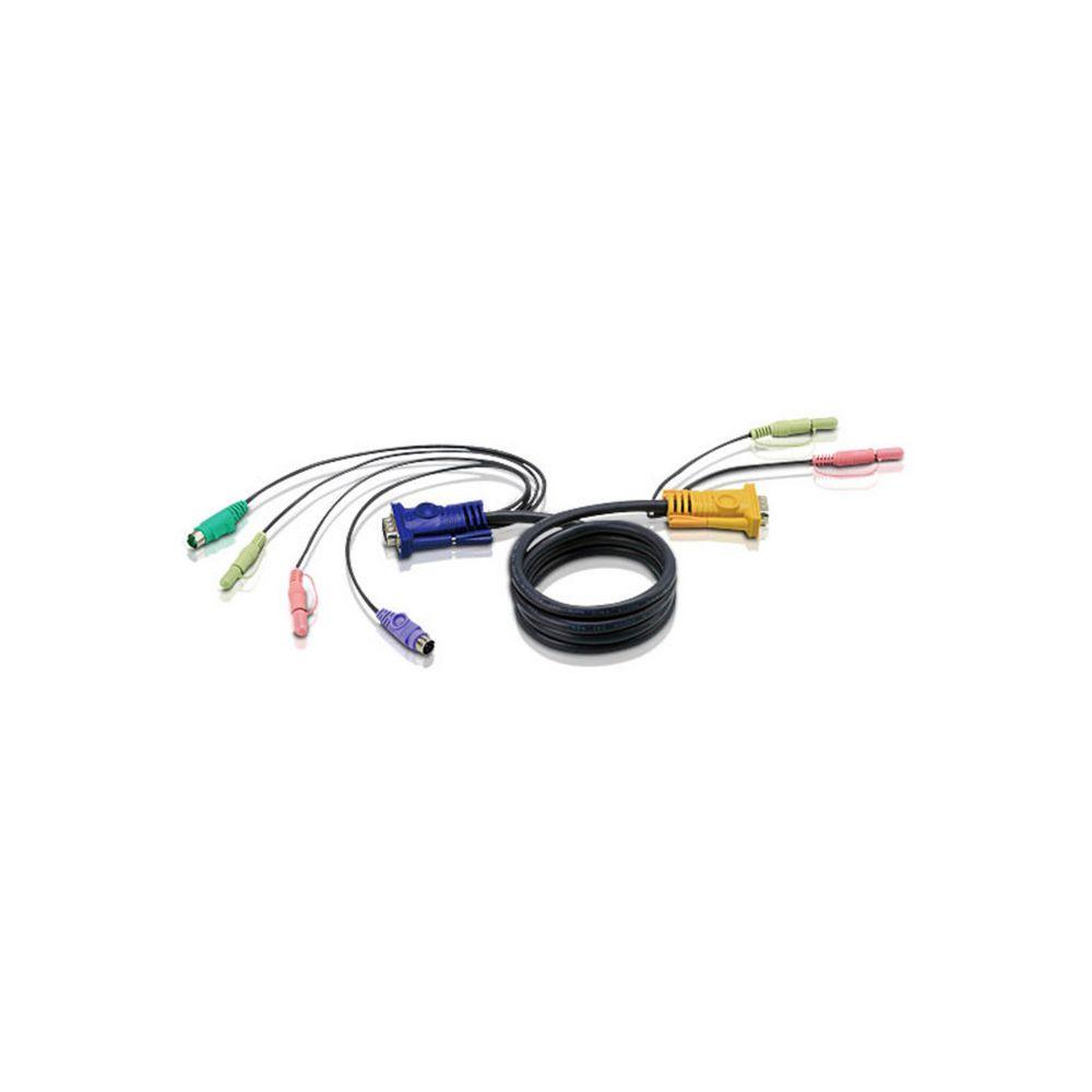 ATEN 2L-5302P, KVM Kabelsatz, VGA, PS/2, Audio, Länge 1,8m