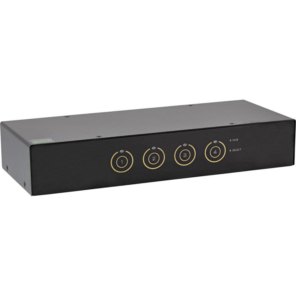 InLine® KVM Desktop Switch, 4-fach, DisplayPort, USB 3.0 Hub, mit Audio