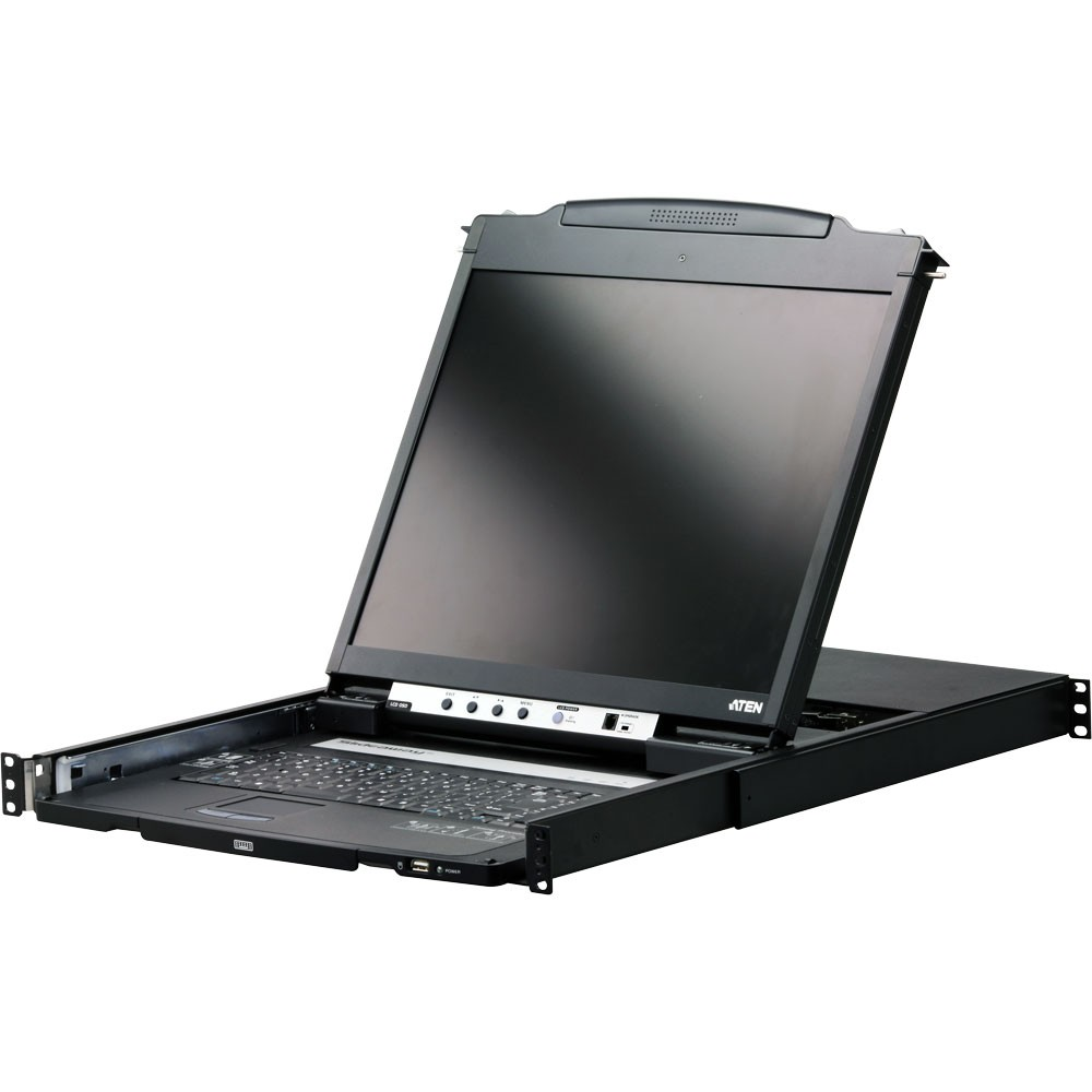 ATEN CL5800N 19'' Slideaway KVM LCD Console, USB, PS/2, Rackmontage, US-Layout
