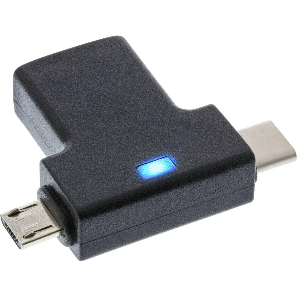 InLine® USB 3.1/2.0 OTG T-Adapter, Typ C Stecker oder Micro-USB an A Buchse