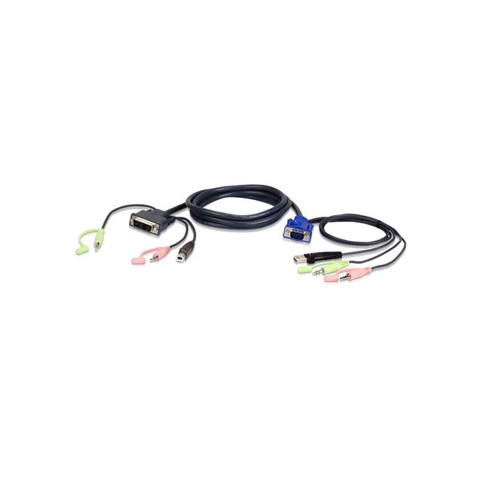 Aten 2L-5205U Kabelsatz f/ür KVM Umschalter