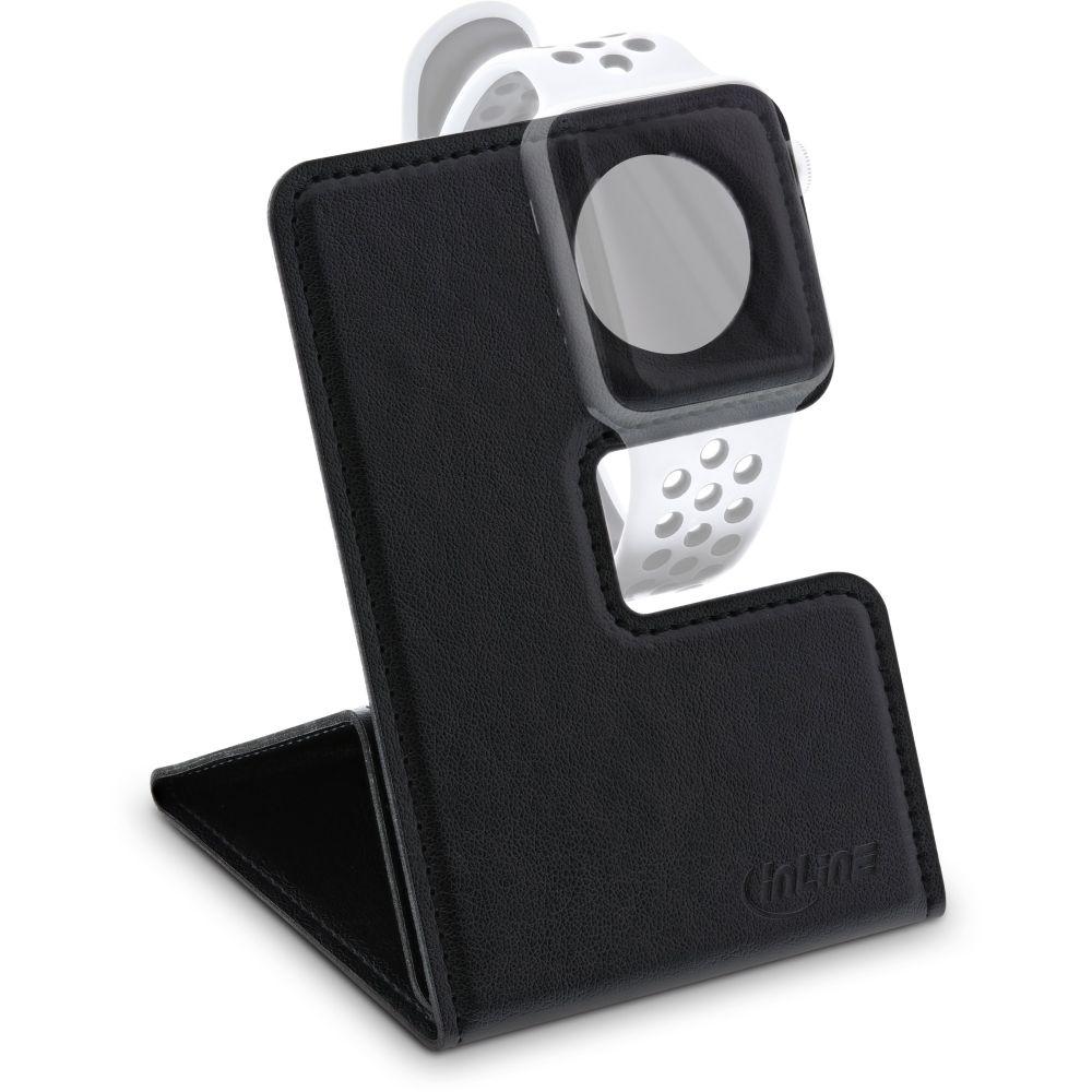 InLine® Halterung für Apple Watch für Schreibtisch / Regal, schwarz, faltbar