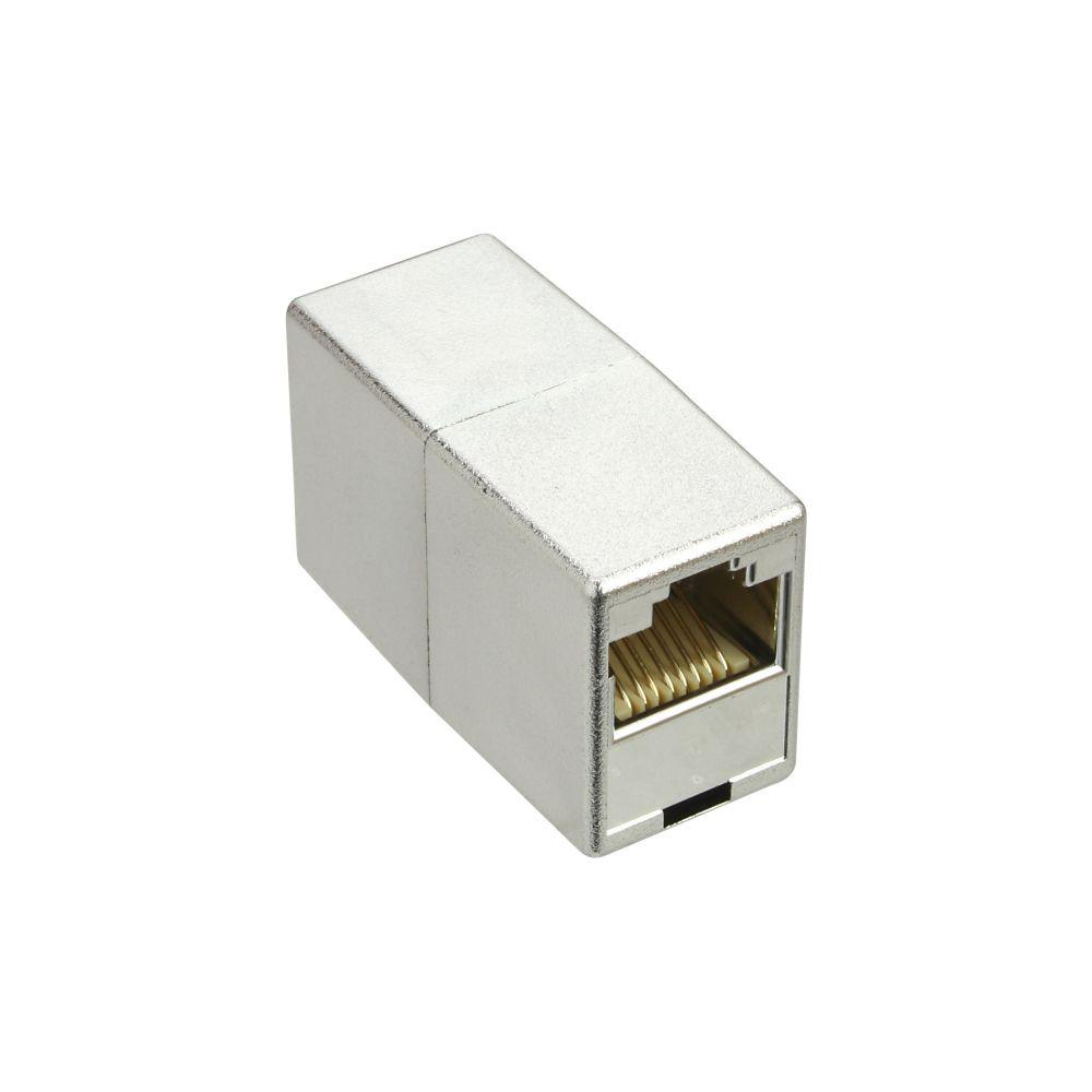 InLine® Cat.5e Patchkabelkupplung 2x RJ45 Buchse, metallisiert geschirmt