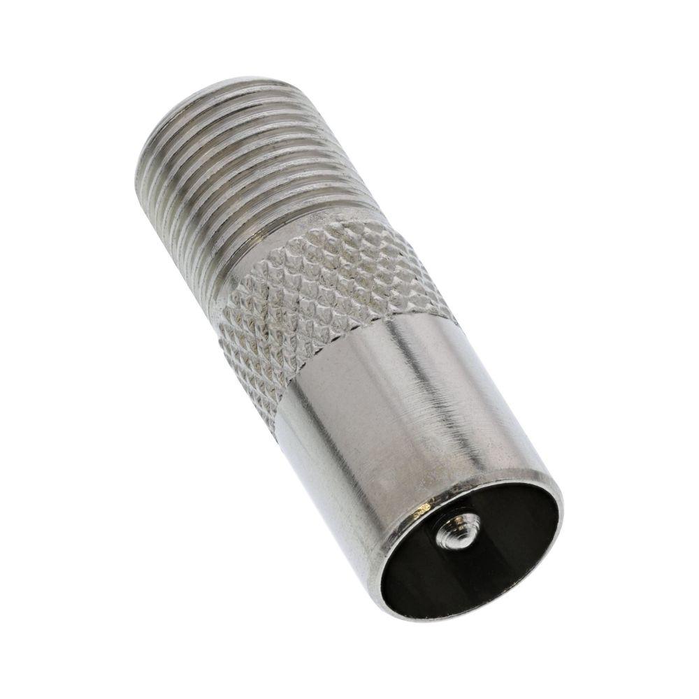 InLine® Koaxial Adapter, IEC- Stecker (Antenne) auf F-Buchse