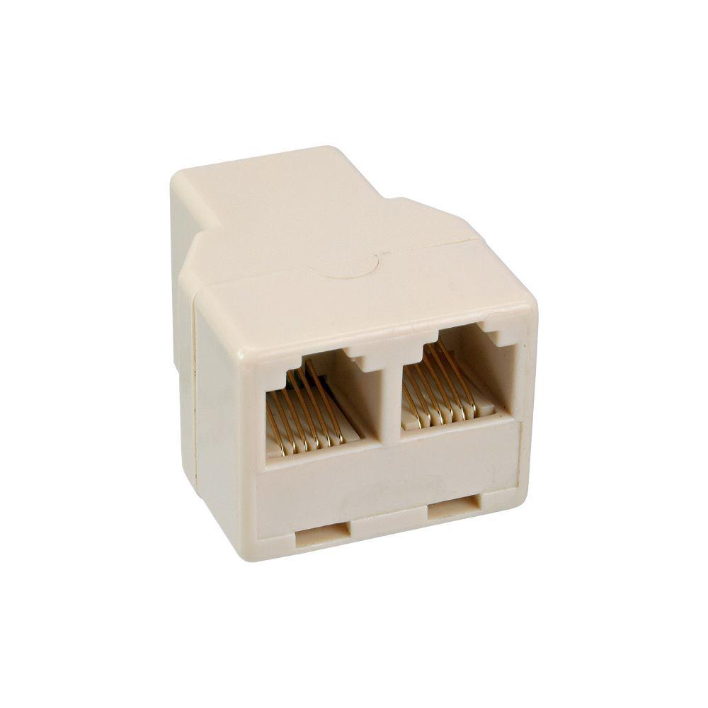 InLine® Modular Verteiler, 1x RJ12 Buchse auf 2x RJ12 Buchse
