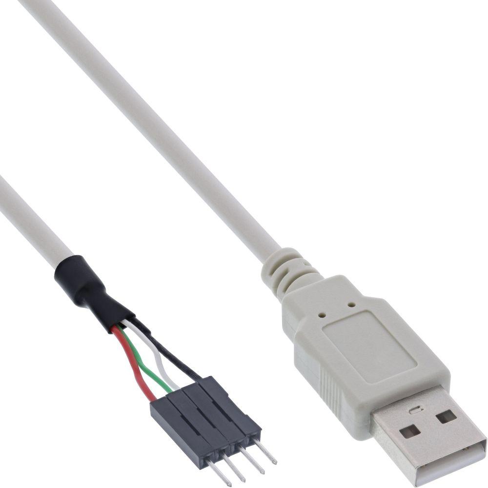 InLine® USB 2.0 Adapterkabel, Stecker A auf Pfostenanschluss, 0,4m