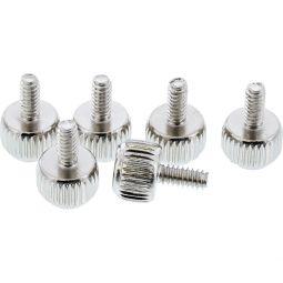 InLine® Rändelschrauben, silber, für Gehäuse, 12mm, 6er Pack