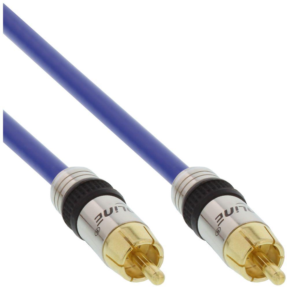 InLine® Cinch Kabel AUDIO, PREMIUM, vergoldete Stecker, 1x Cinch Stecker / Stecker, 20m