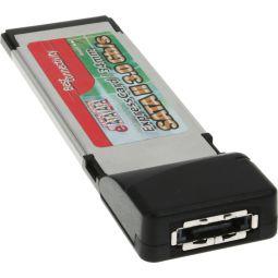 InLine® PCMCIA Express Card, 1-Kanal eSATA Controller Karte (SATA II)