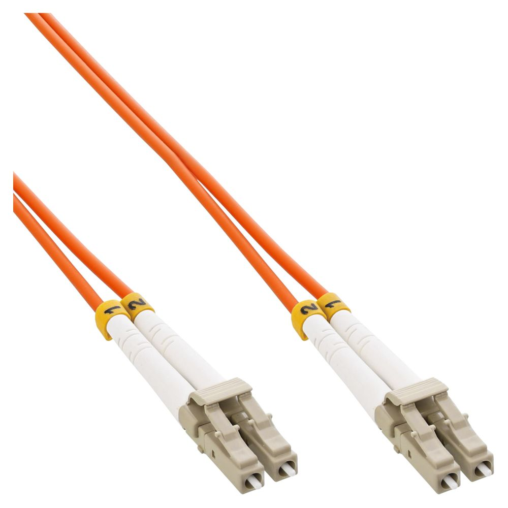 InLine® LWL Duplex Kabel, LC/LC, 50/125µm, OM2, 0,5m