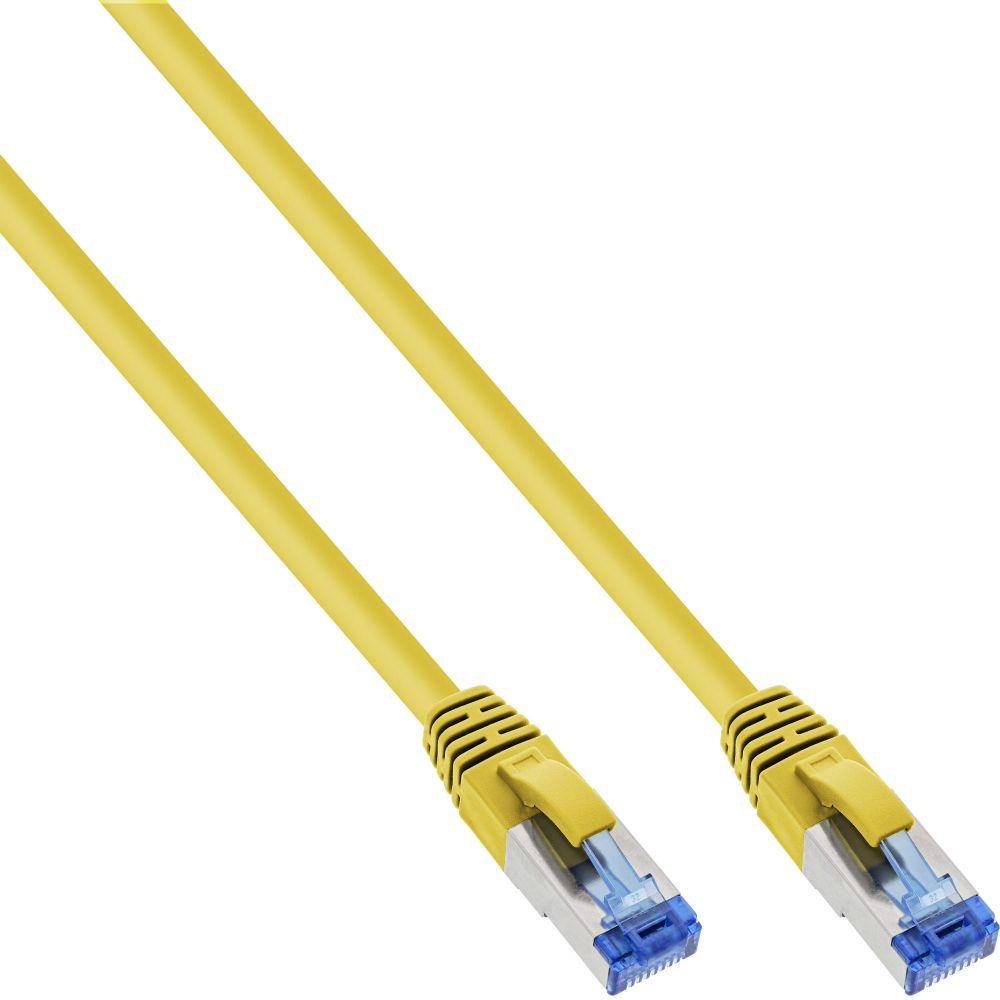 InLine® Patchkabel, S/FTP (PiMf), Cat.6A, 500MHz, halogenfrei, Kupfer, gelb, 5m