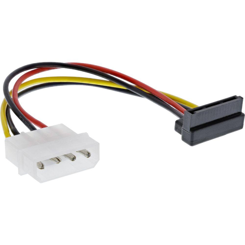 InLine® SATA Stromadapterkabel, 1x 13,34cm (5,25'') Buchse an 15pol SATA Stecker, nach oben abgewinkelt