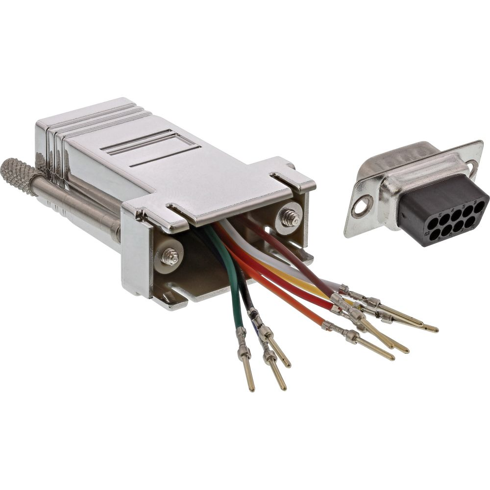 InLine® Adapter, 9pol Sub D Stecker an RJ45 Buchse, metallisiert
