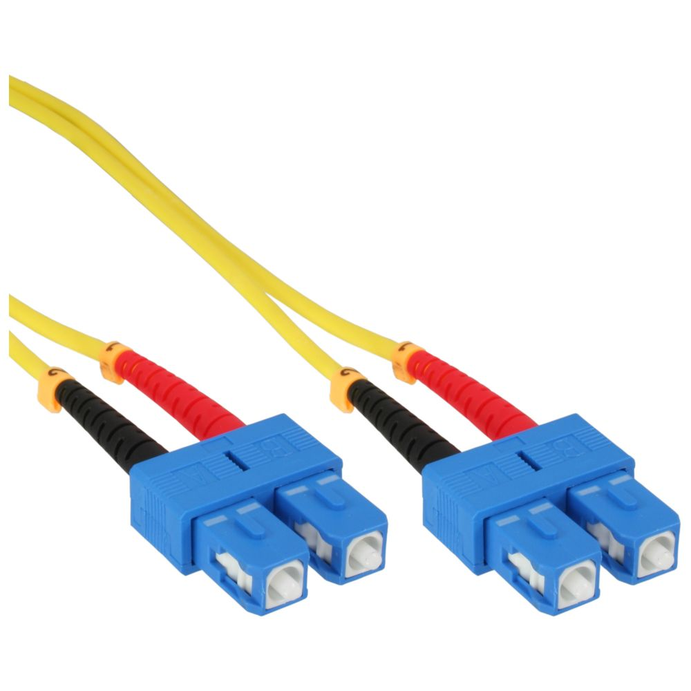 InLine® LWL Duplex Kabel, SC/SC, 9/125µm, OS2, 15m
