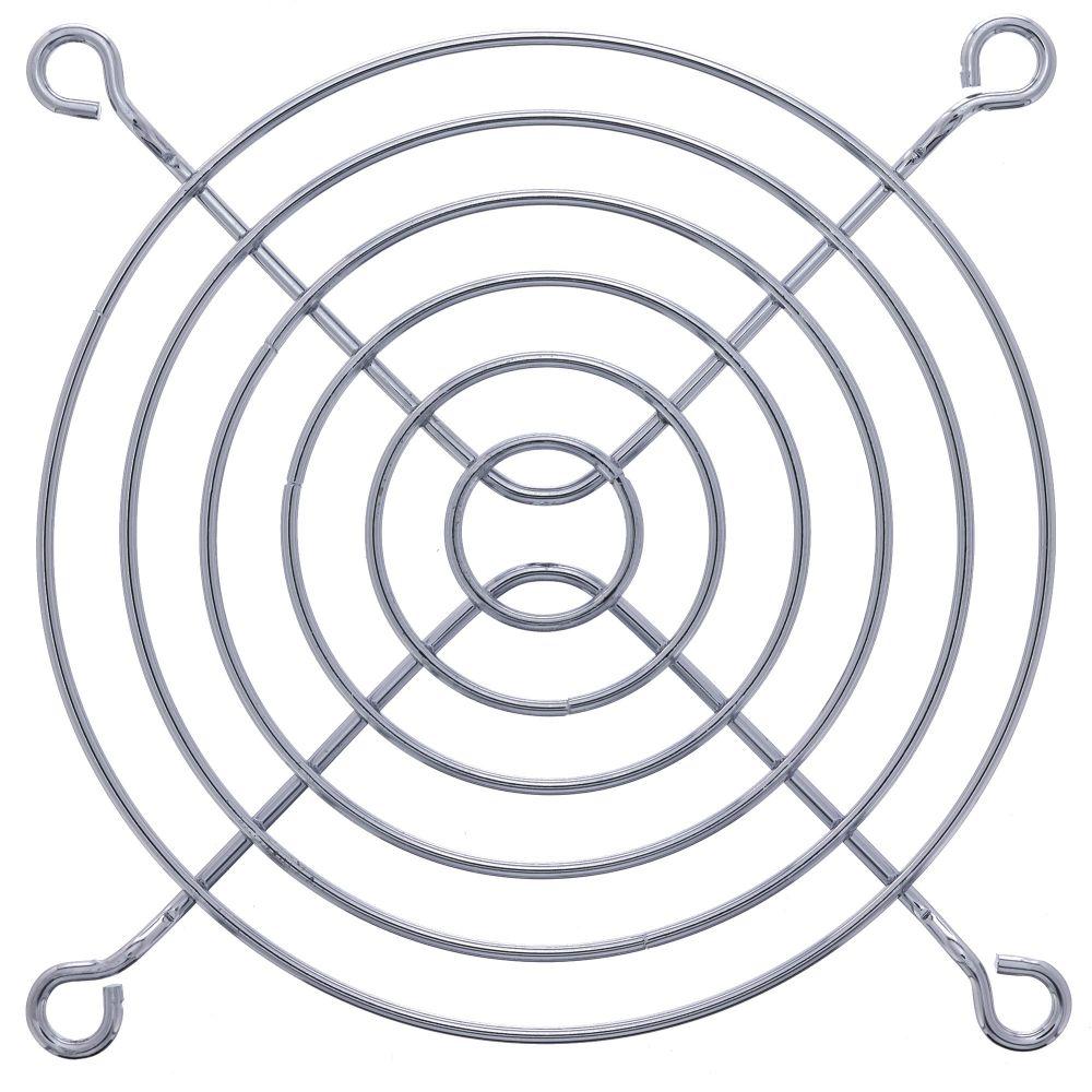 InLine® Lüftergitter Metall, verchromt, 92x92mm