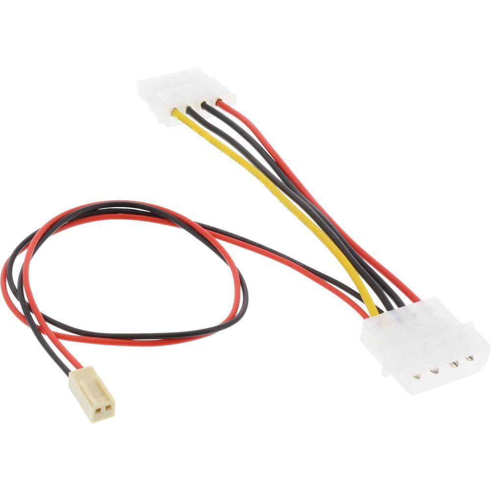 InLine® Mainboard Adapterkabel, 2pol Molex Buchse an 5,25