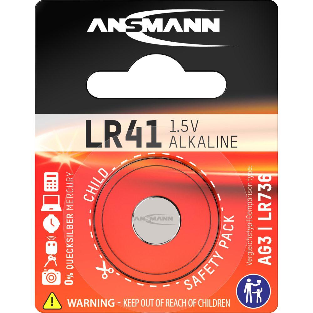 ANSMANN 5015332 Knopfzelle LR41 1,5V Alkaline