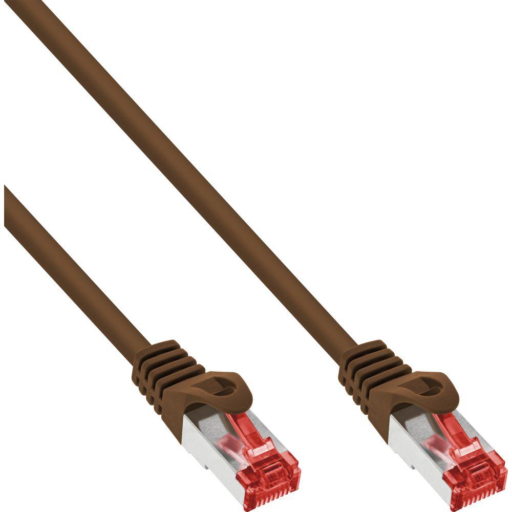 InLine® Patchkabel, S/FTP (PiMf), Cat.6, 250MHz, PVC, Kupfer, braun, 30m