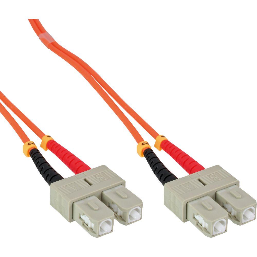 InLine® LWL Duplex Kabel, SC/SC, 50/125µm, OM2, 10m