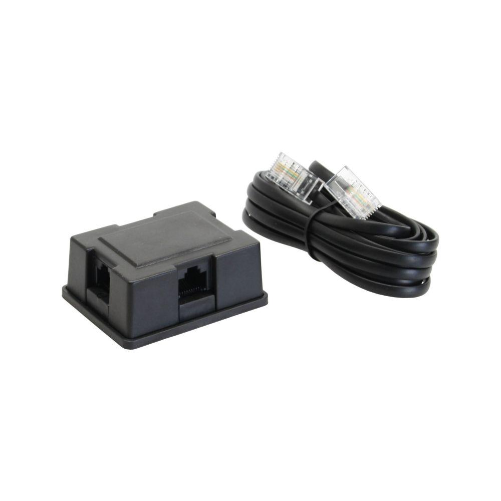 InLine® ISDN Verteiler Box, 3-fach, inkl. Kabel, 3m, mit Widerstand