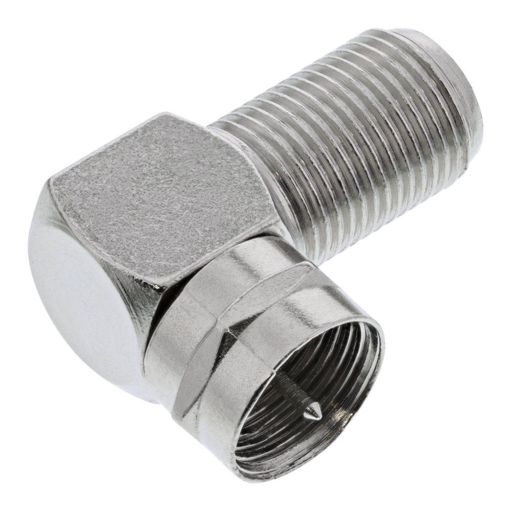 InLine® F-Winkeladapter, F-Stecker / F-Buchse, Metall