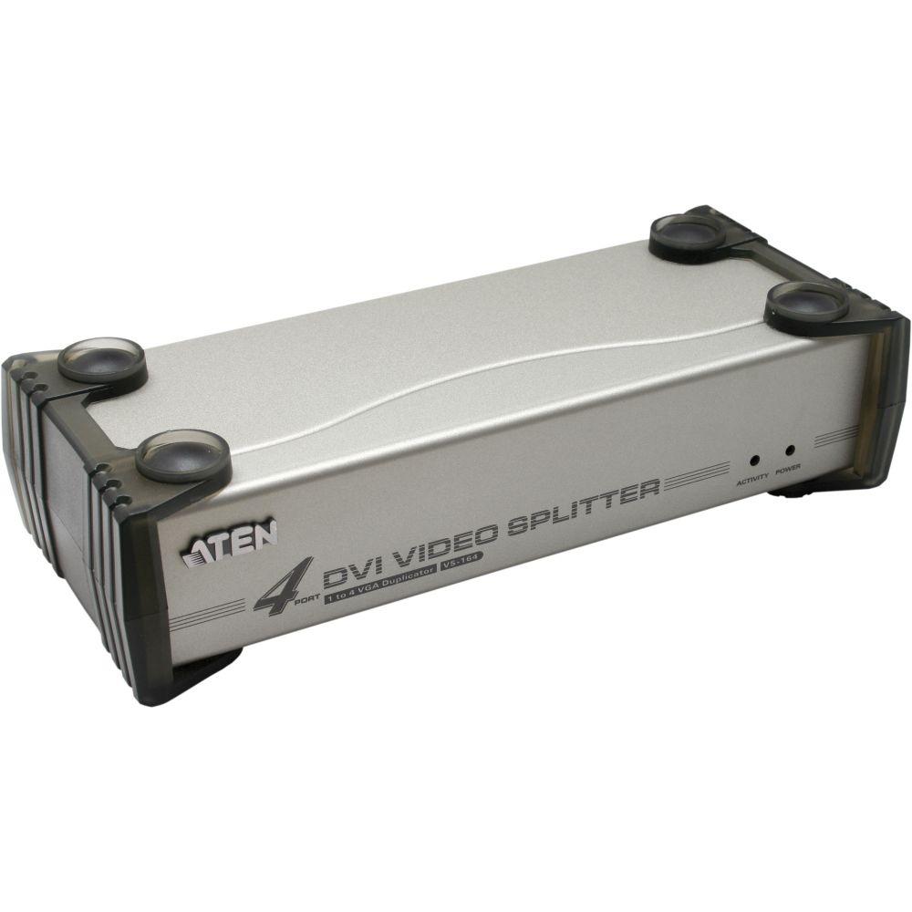 ATEN VS164 Video-Splitter DVI 4-fach Monitor-Verteiler mit Audio