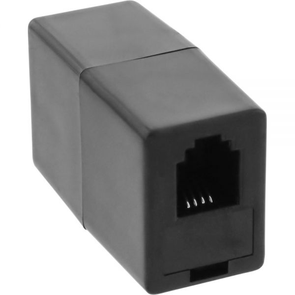 inline modular kupplung rj10 4p4c buchse buchse tae isdn western adapter konverter. Black Bedroom Furniture Sets. Home Design Ideas