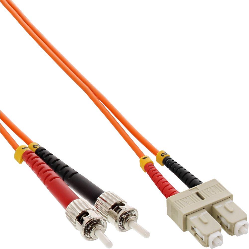 InLine® LWL Duplex Kabel, SC/ST, 50/125µm, OM2, 5m
