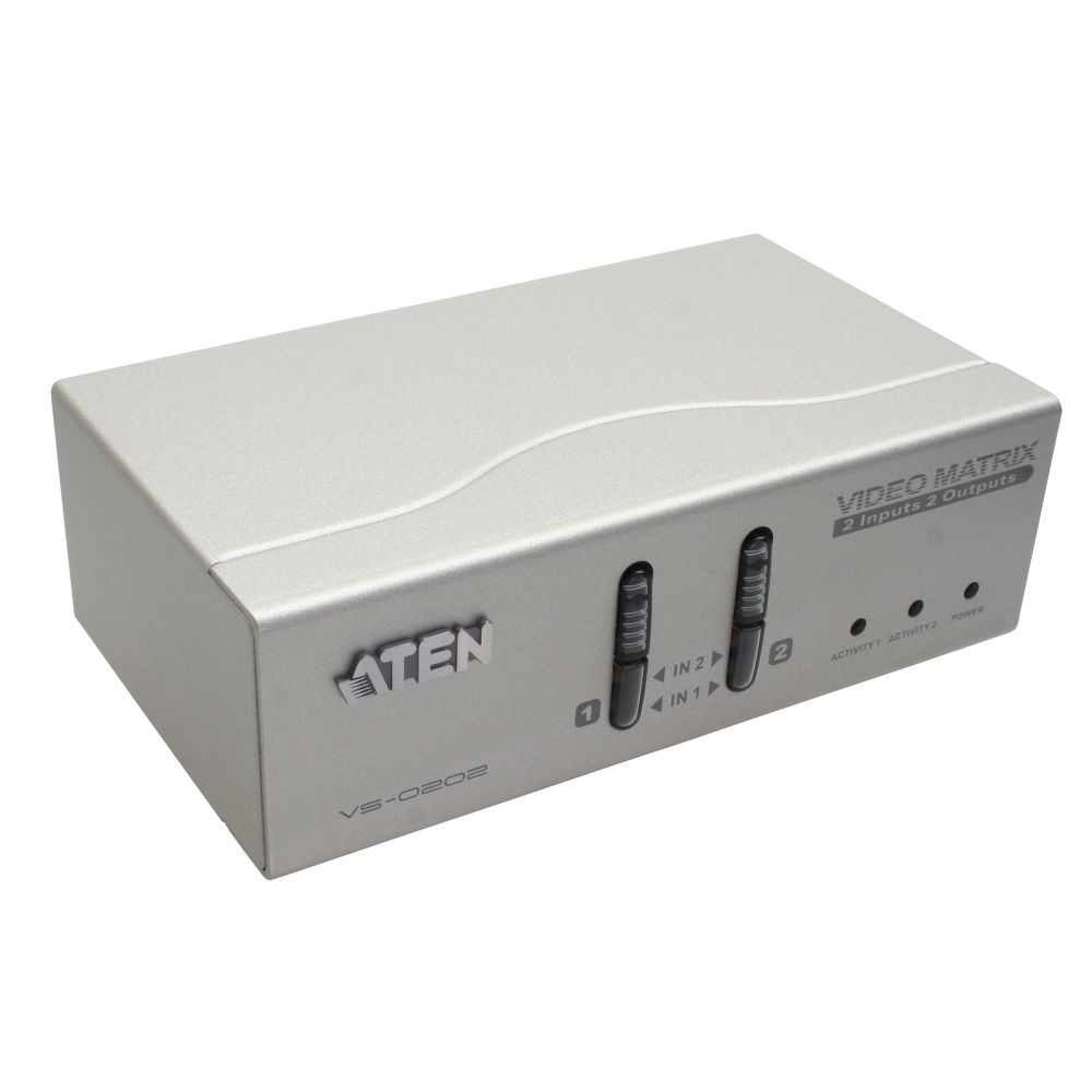 ATEN VS0202 Monitor-Umschalter VGA Matrix 2x2 mit Audio