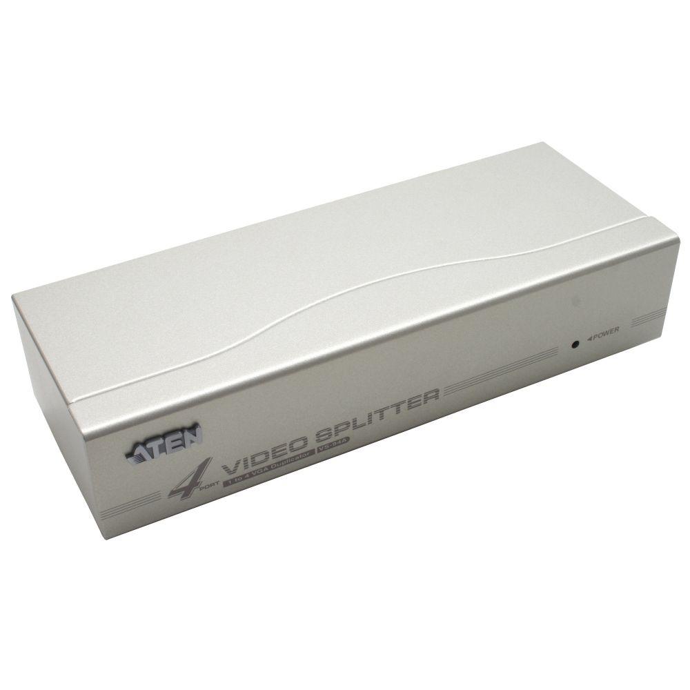 ATEN VS94A Video-Splitter S-VGA 4-fach Monitor-Verteiler, 350Mhz
