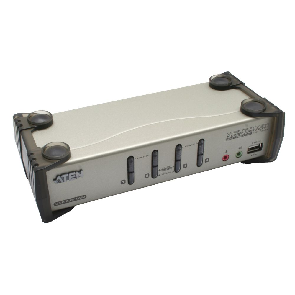 ATEN CS1734B KVM-Switch 4-fach, USB, PS/2, mit Audio, OSD